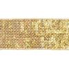 Sequin 4mm Square Row Trim 5cm Width Gold Hologram